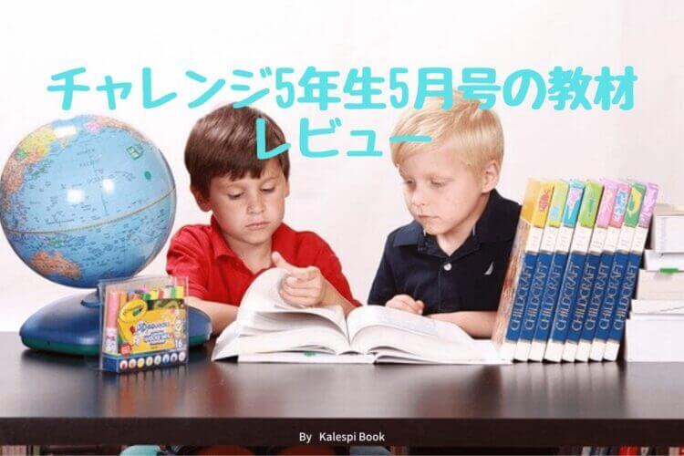 チャレンジ小学5年生5月号の教材とレビュー【2021年版】